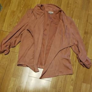 Blush pink faux suede jacket/blazer sz large